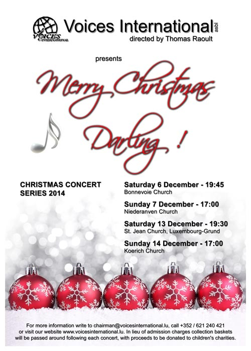 Voices International Christmas Poster